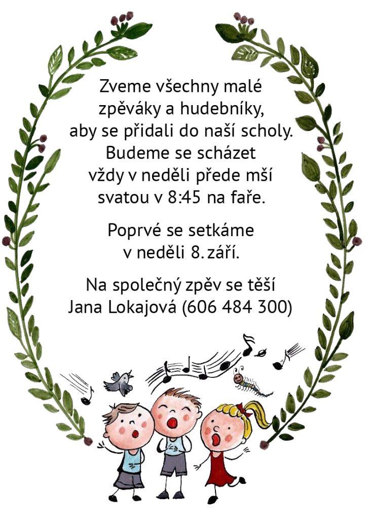 Děti ve farnosti zpívají: vzniká sboreček dětí.