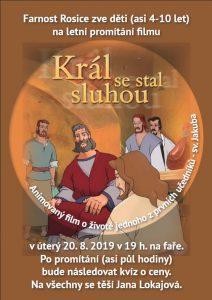 Promítání na faře - letní kino pro děti - Animovaný film o apoštolu Jakubovi.